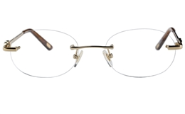 Vista First 8933 Stainless steel/ZYL Womens Rimless Optical Glasses for Fashion,Classic,Nose Pads Bifocals