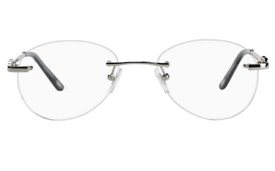 Vista First 8931 Stainless steel/ZYL Womens Rimless Optical Glasses