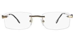 Vista First 8905 Stainless steel/ZYL Mens Rimless Optical Glasses for Fashion,Classic,Nose Pads Bifocals