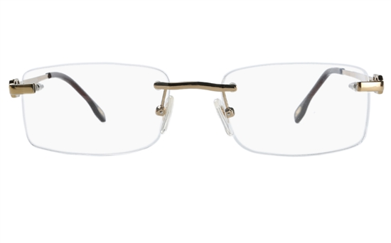Vista First 8905 Stainless steel/ZYL Mens Rimless Optical Glasses