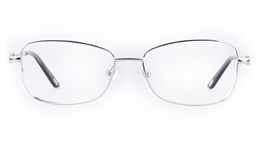 Vista First 8907 Stainless steel/ZYL Womens Full Rim Optical Glasses for Fashion,Classic,Nose Pads Bifocals