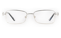 Vista First 8910 Stainless steel/ZYL Womens Full Rim Optical Glasses for Fashion,Classic,Nose Pads Bifocals