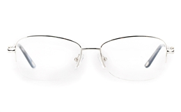 Vista First 8908 Stainless steel/ZYL Womens Semi-rimless Optical Glasses for Fashion,Classic,Nose Pads Bifocals