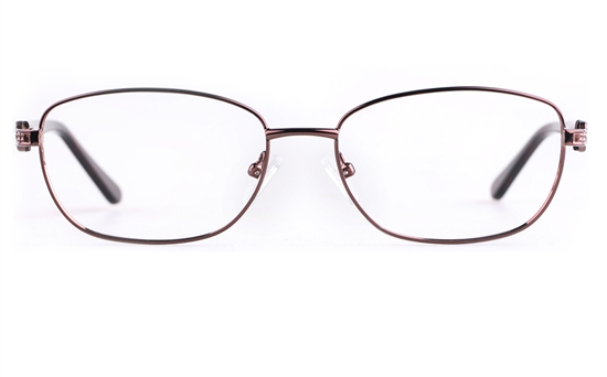 Vista First 8823 Stainless steel/ZYL Womens Full Rim Optical Glasses