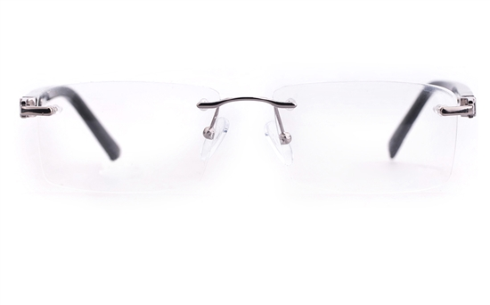 Vista First 1633 Stainless steel/ZYL Mens Rimless Optical Glasses