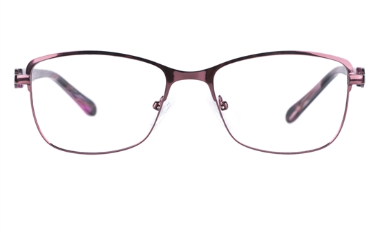 Vista First 8820 Stainless steel/ZYL Womens Full Rim Optical Glasses