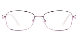 Vista First 8821 Stainless steel/ZYL Womens Full Rim Optical Glasses for Fashion,Classic,Nose Pads Bifocals