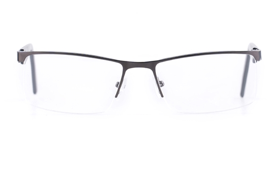 Poesia 6053 Stainless steel/PC Mens Semi-rimless Optical Glasses