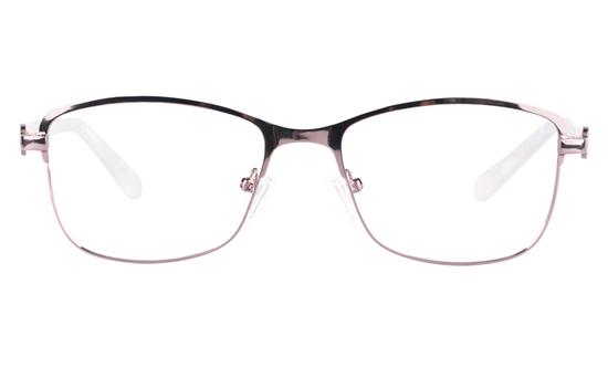 Vista First 8820 Stainless steel/ZYL Womens Full Rim Optical Glasses