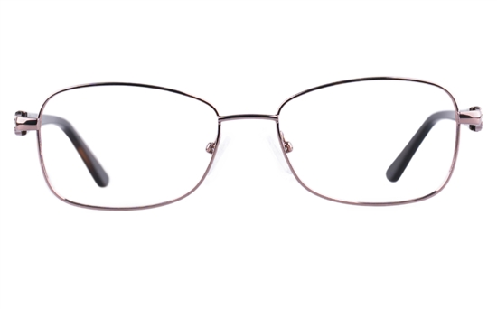 Vista First 8821 Stainless steel/ZYL Womens Full Rim Optical Glasses
