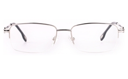 Vista First 8904 Stainless steel/ZYL Mens Semi-rimless Optical Glasses for Fashion,Classic,Nose Pads Bifocals