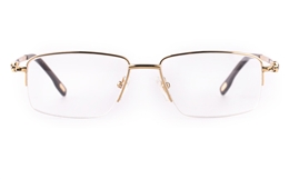 Vista First 8902 Stainless steel/ZYL Mens Semi-rimless Optical Glasses for Fashion,Classic,Nose Pads Bifocals