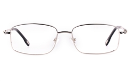 Vista First 8903 Stainless steel/ZYL Mens Full Rim Optical Glasses for Fashion,Classic,Nose Pads Bifocals
