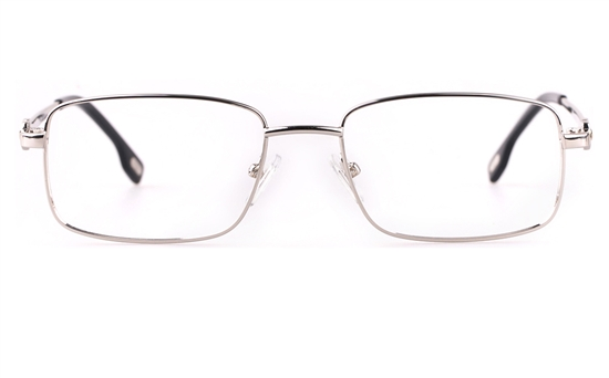 Vista First 8906 Stainless steel/ZYL Mens Full Rim Optical Glasses