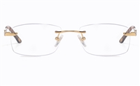 Vista First 8935 Stainless steel/ZYL Womens Rimless Optical Glasses