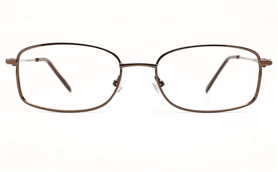 Poesia 6673 Stainless Steel Womens Full Rim Optical Glasses