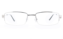 Poesia 6066 Stainless Steel Womens Semi-rimless Optical Glasses for Fashion,Classic,Nose Pads Bifocals