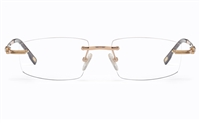 Vista First 8952 Stainless steel/ZYL Mens Rimless Optical Glasses