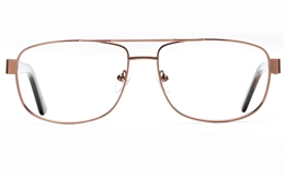 Poesia 7707 Stainless steel/ZYL Mens Full Rim Optical Glasses for Fashion,Classic,Nose Pads Bifocals