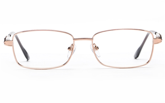 Poesia 6658 Stainless Steel Womens Full Rim Optical Glasses