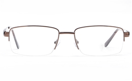 Poesia 6061 Stainless Steel Mens Semi-rimless Optical Glasses
