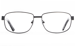 Poesia 7708 Stainless steel/ZYL Mens Full Rim Optical Glasses for Fashion,Classic,Nose Pads Bifocals