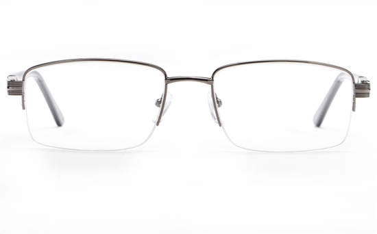 Poesia 6660 Stainless Steel Mens Semi-rimless Optical Glasses