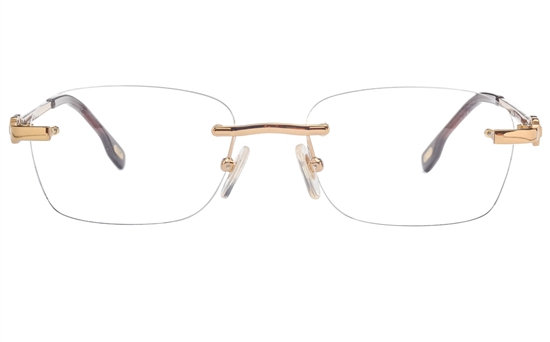 Vista First 8950 Stainless steel/ZYL Mens Rimless Optical Glasses