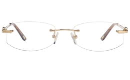 Vista First 8942 Stainless steel/ZYL Womens Rimless Optical Glasses
