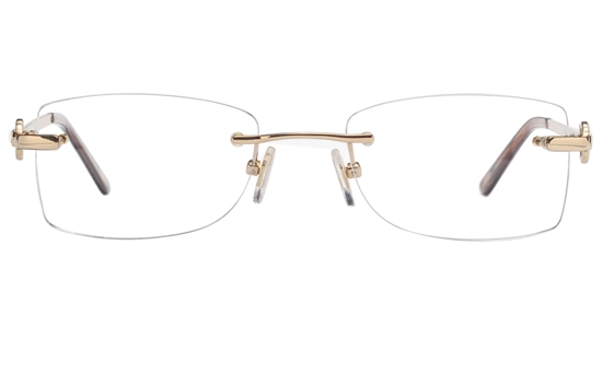 Vista First 8947 Stainless steel/ZYL Womens Rimless Optical Glasses
