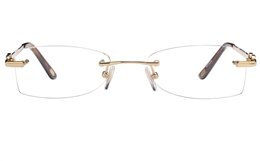 Vista First 8939 Stainless steel/ZYL Womens Rimless Optical Glasses