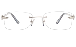 Vista First 8947 Stainless steel/ZYL Womens Rimless Optical Glasses for Fashion,Classic,Nose Pads Bifocals