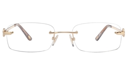Vista First 8945 Stainless steel/ZYL Womens Rimless Optical Glasses
