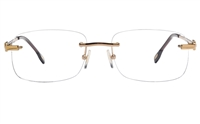 Vista First 8940 Stainless steel/ZYL Mens Rimless Optical Glasses