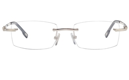 Vista First 8951 Stainless steel/ZYL Mens Rimless Optical Glasses for Fashion,Classic,Nose Pads Bifocals