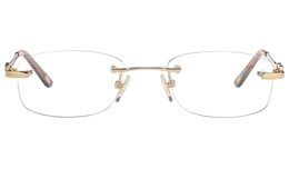 Vista First 8943 Stainless steel/ZYL Womens Rimless Optical Glasses for Fashion,Classic,Nose Pads Bifocals