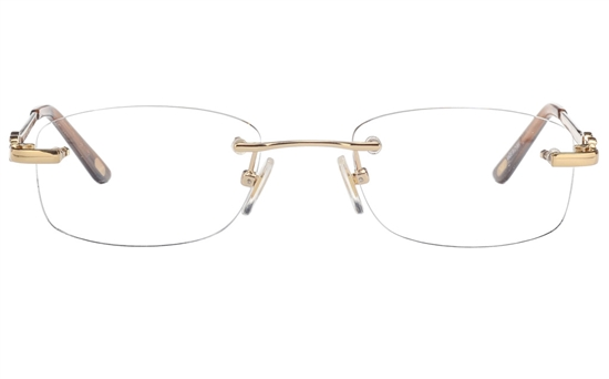 Vista First 8943 Stainless steel/ZYL Womens Rimless Optical Glasses