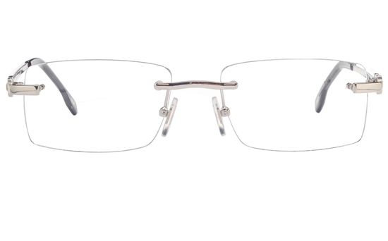 Vista First 8949 Stainless steel/ZYL Mens Rimless Optical Glasses