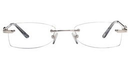 Vista First 8939 Stainless steel/ZYL Womens Rimless Optical Glasses for Fashion,Classic,Nose Pads Bifocals