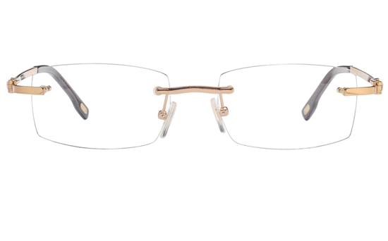 Vista First 8951 Stainless steel/ZYL Mens Rimless Optical Glasses
