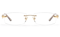 Vista First 8946 Stainless steel/ZYL Womens Rimless Optical Glasses