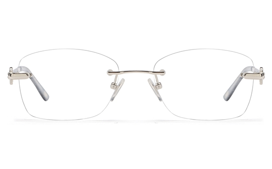 Vista First 8944 Stainless steel/ZYL Womens Rimless Optical Glasses