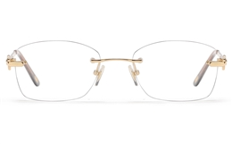Vista First 8944 Stainless steel/ZYL Womens Rimless Optical Glasses for Fashion,Classic,Nose Pads Bifocals