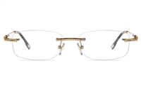 Vista First 8954 Stainless steel/ZYL Mens Rimless Optical Glasses