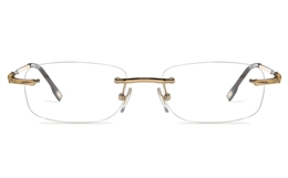 Vista First 8954 Stainless steel/ZYL Mens Rimless Optical Glasses for Fashion,Classic,Nose Pads Bifocals