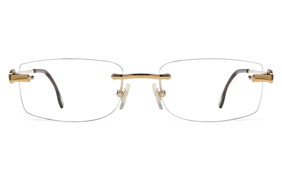 Vista First 8953 Stainless steel/ZYL Mens Rimless Optical Glasses