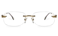 Vista First 8957 Stainless steel/ZYL Mens Rimless Optical Glasses