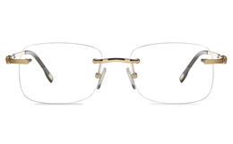 Vista First 8955 Stainless steel/ZYL Mens Rimless Optical Glasses