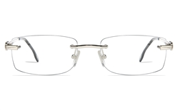 Vista First 8953 Stainless steel/ZYL Mens Rimless Optical Glasses for Fashion,Classic,Nose Pads Bifocals