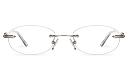 Vista First 8961 Stainless steel/ZYL Womens Rimless Optical Glasses for Fashion,Classic,Nose Pads Bifocals